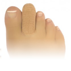 capuchons d'orteil pour la protection et le soulagement des cors pulpaires et des ongles en tissu et gel de silicone